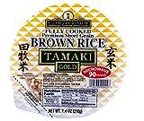 TAMAKI Gold Premium Microwavable Short Grain Brown Rice , instant rice 7.4oz, one pack