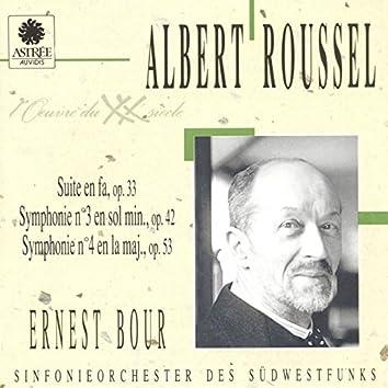 Roussel: Suite en fa, Symphonie No. 3, Symphonie No. 4
