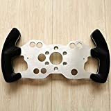 Obokidly DIY Modified Steering Wheel F1 Style Panel for Thrustmaster T300/Ferrari 589 Games Steering Wheels Modification Accessories Parts Set (for Ferrari 589, Aluminum Alloy)