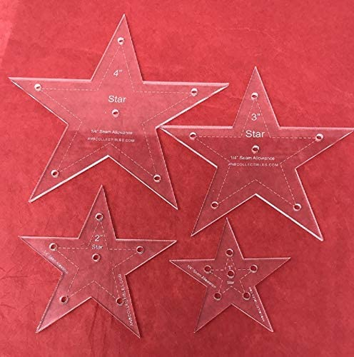 4pc. Set of Star Acrylic Detroit Mall Max 79% OFF Quilting 4