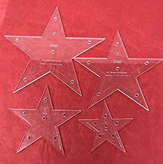 4pc. Set of Star Quilting Templates 1