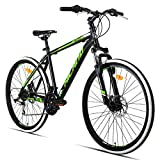 Hiland 26 Inch Mountain Bike MTB Bicycle with 18 Inch Steel Frame Kickstand Disc-Brake...