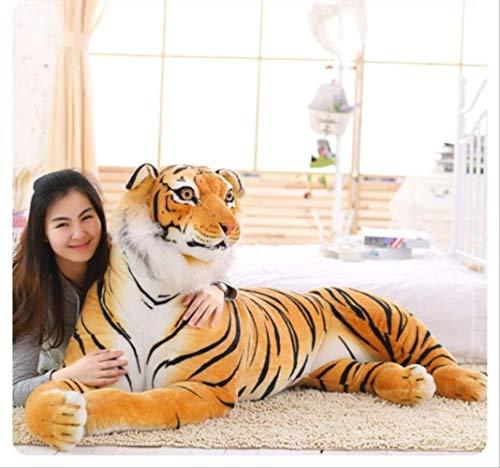 FHFF Juguete de Peluche Animales De Peluche Suave Tigre Peluches Almohada Animal Patrón Grande Muñeca Kawaii Algodón Chica Juguetes 40Cm Amarillo