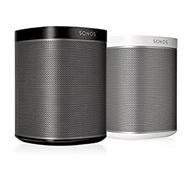 SONOS PLAY:1 2-Room Streaming Music Starter Set Bundle (Black & White)