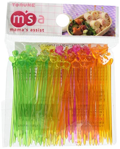 1 X Japanese Bento Cute Food Pick 100 pcs - Clear and Slim by JapanBargain