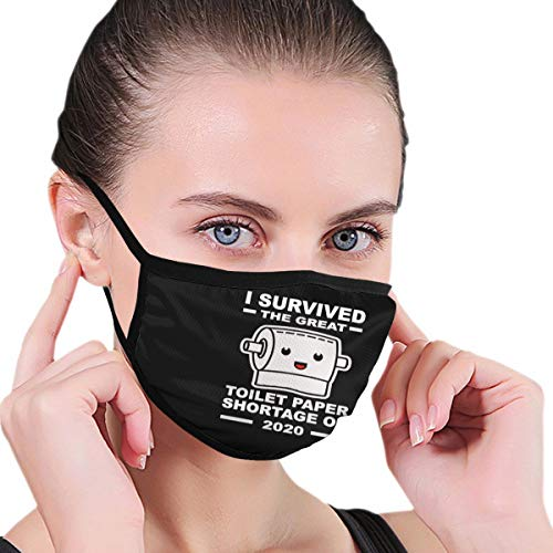 Unisex Face Mask Toilet Paper Shortage Outdoor Dust Mask for Camping Travel Anti-Dust Black