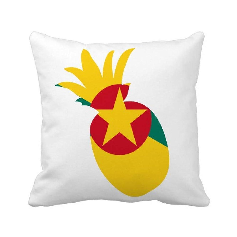 在庫面白いブランクグレナダ島北アメリカの国家エンブレム パイナップル枕カバー正方形を投げる 50cm x 50cm