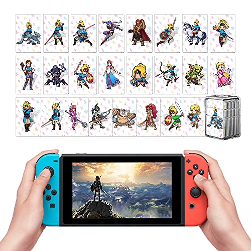 TPLGO 24 pcs NFC Carte per Zelda Breath of The Wild Botw Switch/Wii U