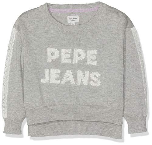 Pepe Jeans Mädchen Patsie Pullover, Grau (Grey Marl 933), 13-14 (Herstellergröße: 14 Jahre)