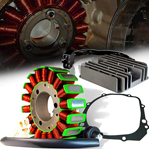ExtremePowersports OE Magneto Coil Stator+Voltage Rectifier+Gasket For 00-03 GSXR 600/750/1000