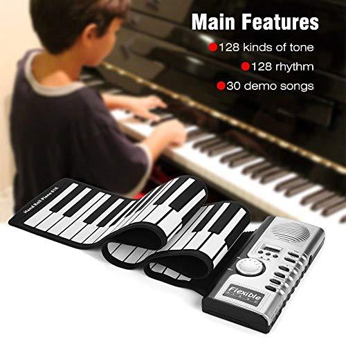 Best Buy! FJFJFJ Portable 61 Keys Roll-Up Piano USB MIDI Keyboard MIDI Conctroller Hand Electronic P...