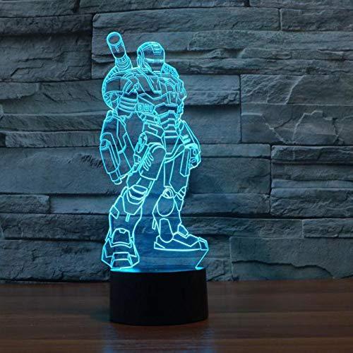 Hollywood Film Superheld Helden Attentäter 3D Nachtlicht Cartoon Eisen Spinne Captain Man Acryl Tischlampe Kinder Geschenk Dekoration