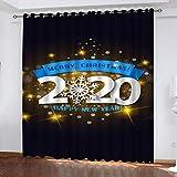 Cortinas Aislantes Térmicas Impresión 3D - con Ojales,Reducir el Ruido y Aislantes Térmicas - Decoración del hogar para salón y Dormitorio 2020 año nuevo220cmx215cm(WxL)