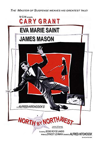 American Gift Services - North by Northwest Vintage Alfred Hitchcock Movie Poster - 11x17