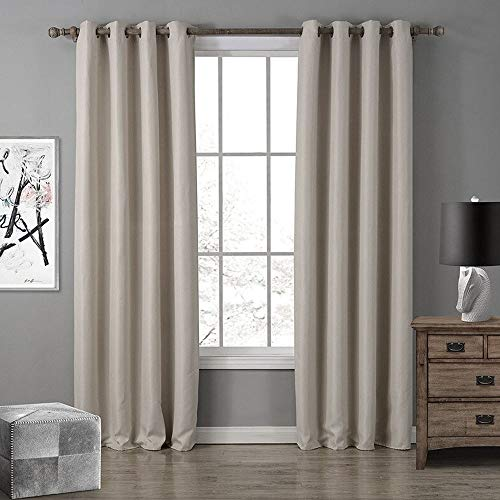 Deal Thermal Insulated Blackout Curtain (Khaki, 42x95 inch)