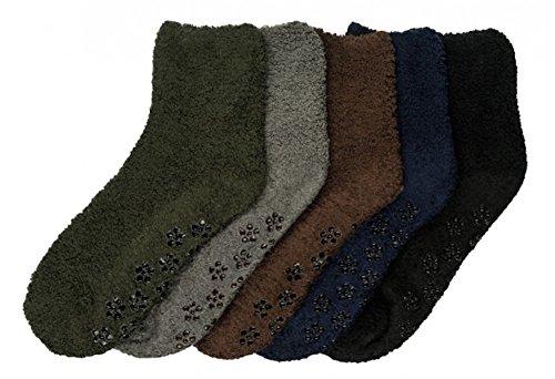 Mamia 6 Pairs Women's Cozy Slipper Socks Fuzzy Sock Multi Color (Style...
