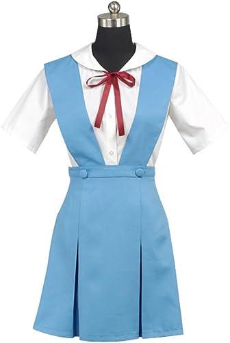 EVA Ayanami Rei Cosplay Kostüm Kleid Blau Damen M