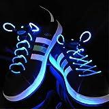 [Present-web] フラッシュ ストリング LED ランニングシューズ 靴紐 【ブルー】