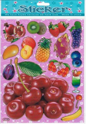 fruits Decal autocollant de décalque 1 Dimensions de la feuille: 25 cm x 20 cm