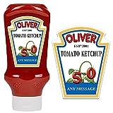 Etiqueta personalizada para botella Heinz Tomate Ketchup para cumpleaños en cualquier ocasión (880 g-800 ml)