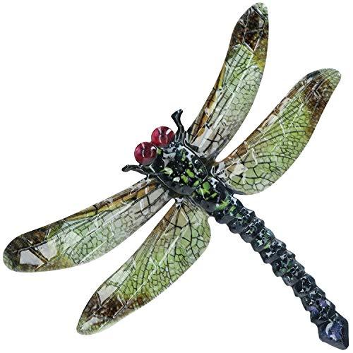 AB Gereedschap Groen Metalen Dragonfly Tuin/Home Muurdecoratie 35x28cm Inddor/Outdoor