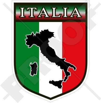 ITALIEN Italienischer Schild ITALIEN 100mm Auto & Motorrad Aufkleber, Vinyl Sticker