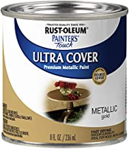 Rust-Oleum 240287 Painter's Touch Satin, HP, 1/2 Pint, Metallic Gold