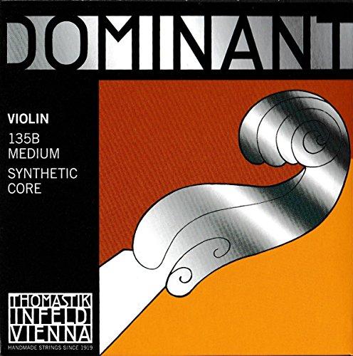 Thomastik 633628 Saiten für Violine Dominant Nylonkern, Satz 4/4 Mittel mit E Chromstahl