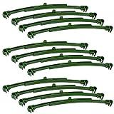 CODIRATO 12 Pezzi Connettori di Palo in Plastica Graticcio Regolabili Paletti Estensibile per Gabbia di Pomodoro e Piante Rampicanti (Verde, 25.5-35.5CM)
