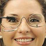 Magnifying Make up Eyeglasses, 3X Magnification, Single Lens, Flip-able Each Side Cosmetic Application
