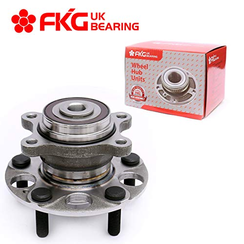 Price comparison product image FKG 512257 Rear Wheel Bearing Hub Assembly fit for 2006-2011 Honda Civic ABS Models LX DX GX Only 1.8L,  5 Lugs