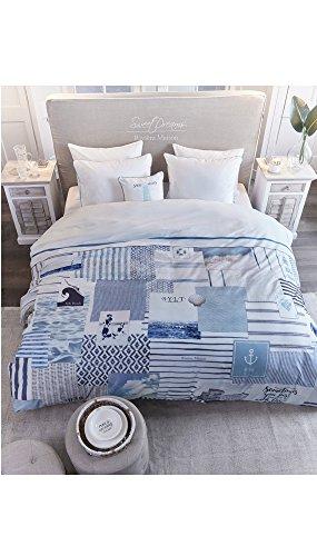 Riviera Maison Bettwäsche Sylt Beach blau 240x220