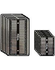 10 x Prototype Board Breadboard Soldeerbaar, protoboard kit, dubbelzijdig bedrukt circuit, prototype board PCB, epoxyhars testplaat voor Arduino soldeerwerkzaamheden ESP32, DIY elektronische projecten