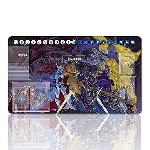 487460 - Juego de mesa Digimon Playmat de mesa tamaño 60 x 35 cm Alfombrilla de ratón para Digital Monster TCG CCG Yugioh MTG