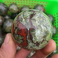 NUJA 1個の自然ドラゴンブラッドストーンハンドは、Crystal Ballのエナジーヒーリングポリッシュ