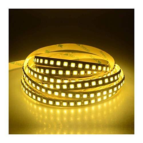 Cinta de luz LED 5 m 5054 LED tira de luz de diodo cinta DC 12 V 300 600 LEDs de alto lumen ultra brillante versión mejorada 5050 (color: amarillo)
