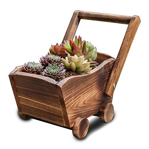 KJSMA - Fioriera in legno, per piante da giardino, in legno, per interni ed esterni