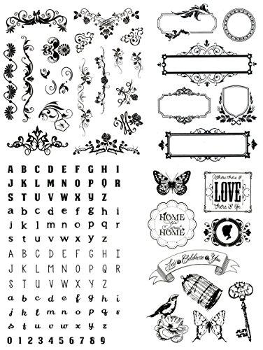 be fancy! Silikonstempel Set - Clear Stamps - DIY Stempel - 144 Motive, Teile - transparent