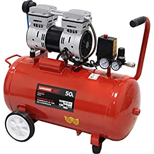 51fOb8Sqm1L. SS300  - MADER POWER TOOLS - Compresor de Aire (sin aceite) 50L 1.0HP - silencioso - ecologico - economico