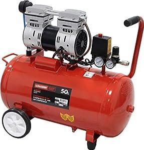 MADER POWER TOOLS - Compresor de Aire (sin aceite) 50L 1.0HP - silencioso - ecologico - economico