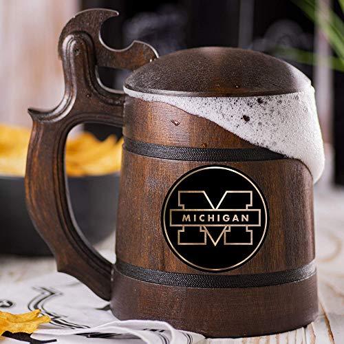 University of Michigan Beer Mug, Universities Sport League Beer Stein, Custom Beer Stein, Sport Gift, Personalized Beer Tankard, Gift for Men, Gift for Him