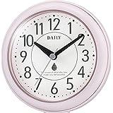リズム(RHYTHM) 掛け時計 置き時計 防水 防塵 アクアパークDN ピンク ф11.8×4.8cm DAILY 4KG711DN13