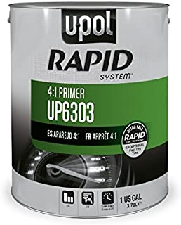 U-POL 6303 Rapid System Primer, Gray, 1 Gallon Tin