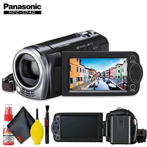 Why Choose Panasonic HDC-SD40 High Definition Camcorder (Black) with Cleaning Kit