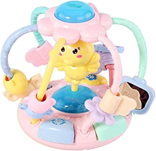 Anniston Kids Toys, Cute Cartoon Chick Baby Beads Grasping Ball Music Light Teether Rattles Toy Smart Toys Perfect Fun Tim...