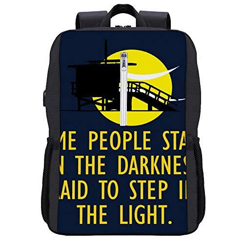 Rucksack mit Songtext von Baywatch, Tagesrucksack, Büchertasche, Laptoptasche, Schultasche, mit USB-Ladeanschluss
