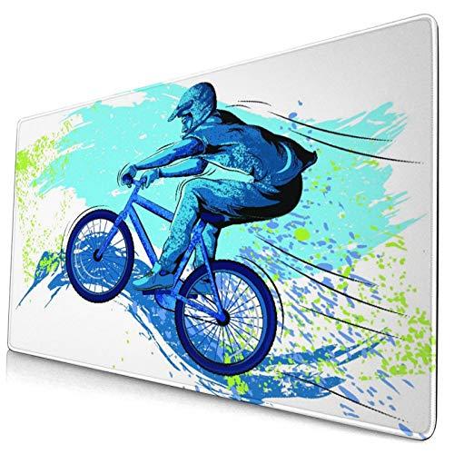 Nettes Mauspad ,BMX von Sportsman Cycling Extreme Bike Freestyle T,Rechteckiges rutschfestes Gummi-Mauspad für den Desktop, Gamer-Schreibtischmatte, 15,8