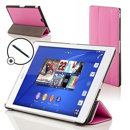 Forefront Cases Smart Hülle für Sony Xperia Z3 Tablet Compact 20,3 cm (8 Zoll) SGP611 Smart Schutzhülle Tasche Case Cover - Rundum-Geräteschutz Smart Auto Schlaf Wach inkl. Eingabestift (ROSA)