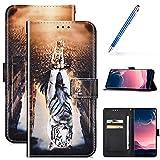 URFEDA Cover Compatibile con Samsung Galaxy A71 Custodia Flip Cover in PU Pelle Portafogli...