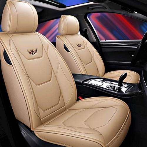 HORSE KINGDOM Univesal Car Seat Covers Faux Leather Airbag Compatible Quilting Two Front Gray